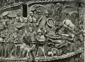 """Aurelius' Column, Piazza Colonna, Rome Depicting Il Miracolo Della Pioggia, """"The Miracle of Rain"""""""