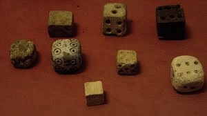 According to the Father of History Herodotus, the Lydians claimed to have invented dice games, but that is not true. We have found dice in Egypt going way back to c. 3000 BC, almost 2,000 years before the Iron Age Lydians.