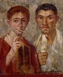 Wall painting of the baker Terentius Neo and his wife. From the House of Terentius Neo, Pompeii. AD 50–79.