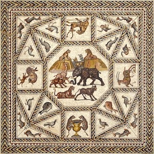 Mosaic from a private Roman house, c. 300 AD