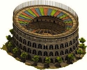 Rendering of how the Colosseum looked at the time