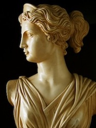 Diana was the Guardian of wild beasts, horses and domesticated animals.
