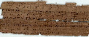 Papari of lyrics and musical notation from about 260 AD