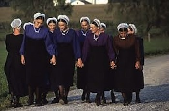 Modern day Amish women