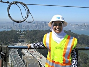 American Muslim woman—civil engineer