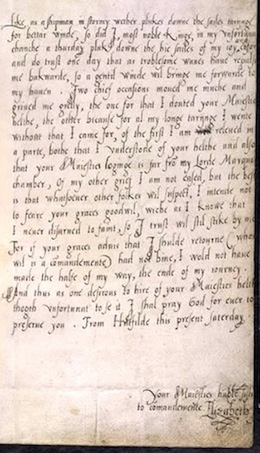 Elizabeth I to Edward VI, 1553