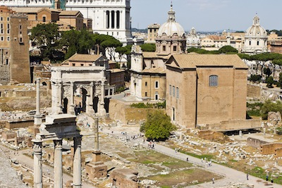 Ruins of the ancient Roman senate house
