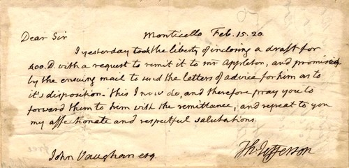 Thomas Jefferson—February 15, 1820