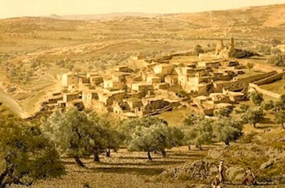 Rendering of ancient bethlehem near the place where jerome wrote