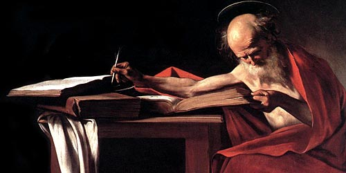 Saint Jerome in His Study— Caravaggio, c. 1605