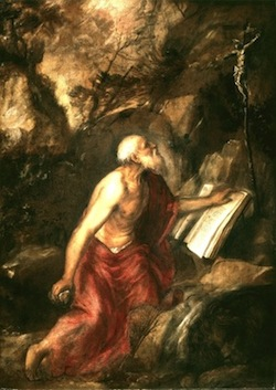 St. Jerome—Titian (1485-1576), The Louvre