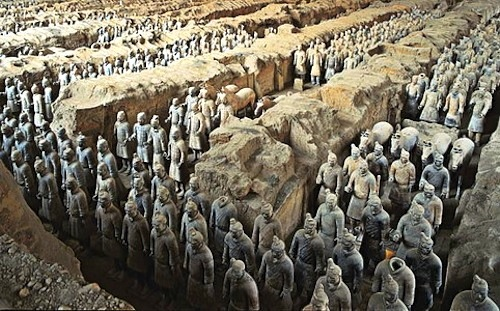 "We call China ""China"" after Qin. Qin is the emperor who created the famous Terra Cotta Army discovered by farmers in the Lintong District of China in 1974"