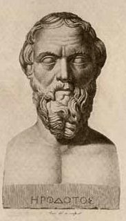 Bust of Greek historian Herodotus