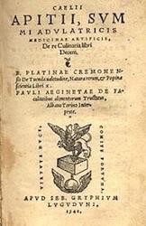 Rare copy of Apicius' book (1541)