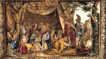 Tapestry of Alexander with Darius and his family— van den Hecke, 1661-95