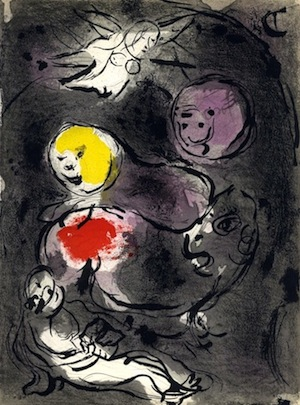 Daniel in the Lion's Den—Marc Chagall