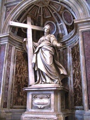 Saint Helena (mother of Constantine) with Cross— Basilica Saint Pietro, Vatican City.