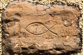 Primitive sign of the fish—Ichthus