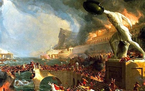 """The Fall of Rome""—By American artist Thomas Cole, 1801-1848"