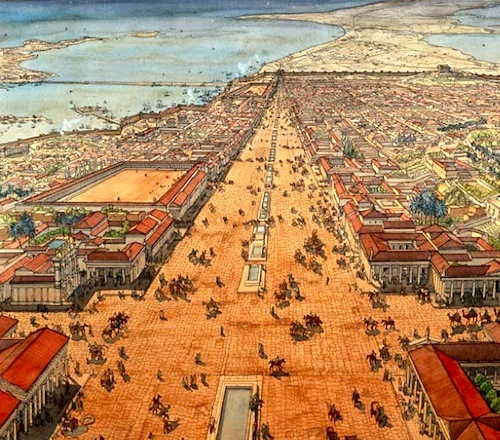 Ancient Alexandria in Roman Empire times