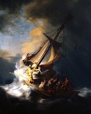 Storm On The Galilee—Rembrandt, 1633. (Stolen from the Gardner Museum in Boston the night of March 18, 1990. Has never been recovered.)