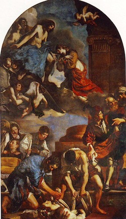 Buriel of St. Petronilla, Guercino 1621-22