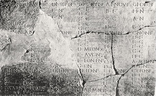 The Julian Calendar preserved on stone