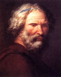 Oil painting of Archimedes by the Sicilian artist Giuseppe Patania (1780-1852)