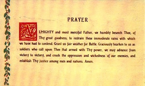 Prayer Gen. George S. Patton Jr. ordered written, printed and distributed to all soldiers in his Third Army just before Christmas 1944.