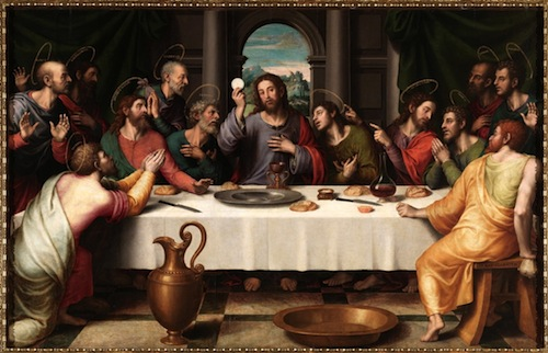 Last Supper—The first Eucharist depicted by Juan de Juanes (1523-1579)