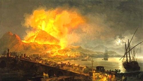 """""""Mt. Vesuvius Erupting""""—Pierre Jacques Volaire, 1729 - 1802"""