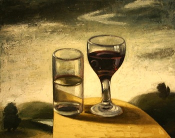 Water and Wine, oil on canvas—Richard Baker, 1959 -
