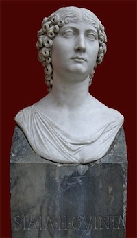 Bust of a 1st century AD mime actress found 4 miles from Acte's Velitrae estate in the vicinity where there were many inscriptions naming mime actresses.