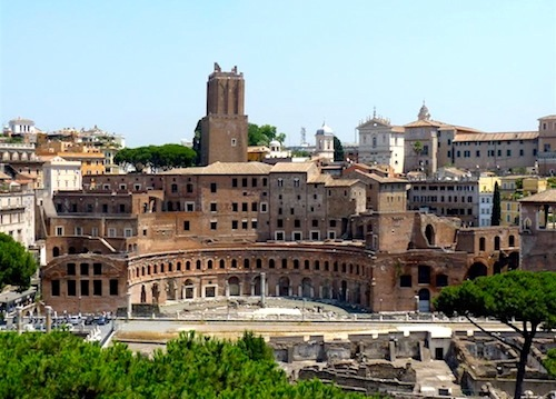 Trajan's Market was built as an integral part of Trajan's Forum
