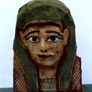 Example of an ordinary person's mummy mask. It is supposedly the mummy mask that yielded the Mark fragment.