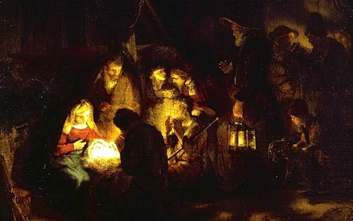 Adoration of the Shepherds, Rembrandt