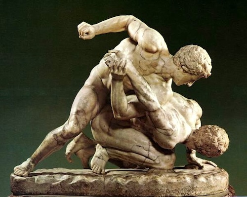 Sculpture of Roman Boxers (Pankrationers)