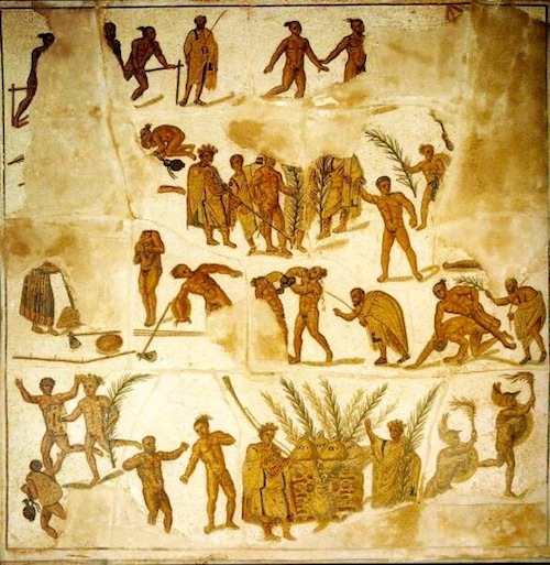 Mosaic of ancient Greek games