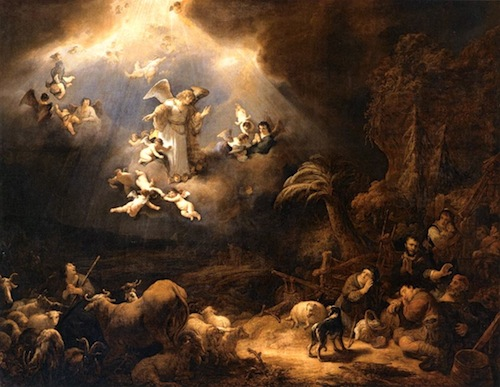Angels Announcing Birth of Christ, Flinck