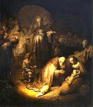 Adoration of the Magi, Rembrandt