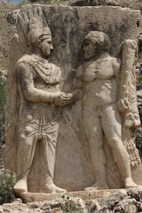 Mithridates shaking hands with Hercules