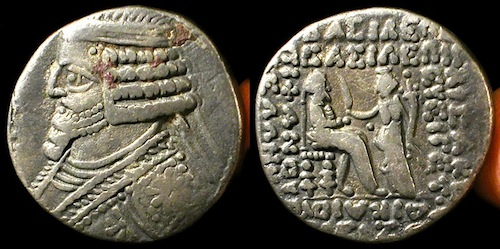 Phraates IV Silver Tetradrachm c. 30 BC