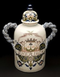 French pharmacy jar, c. 1725-1775