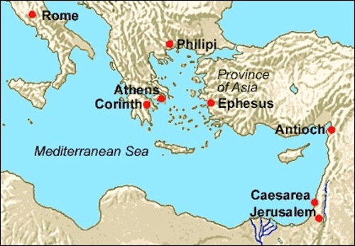 Map of Ancient Ephesus