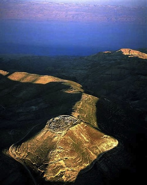 Aerial View of Antipas' Palace in Machaerus