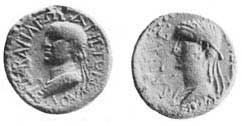 Coin of Aristobulus and his wife Salome, c. 44 AD
