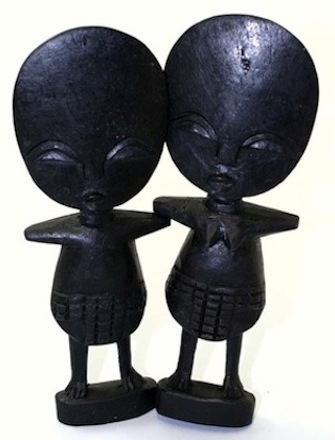 Ebony wood fertility idols—Ashanti (region within Ghana in Africa)