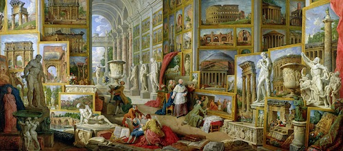 Gallery of Views of Ancient Rome, Giovanni Paolo Pannini, 1758, Louvre Museum