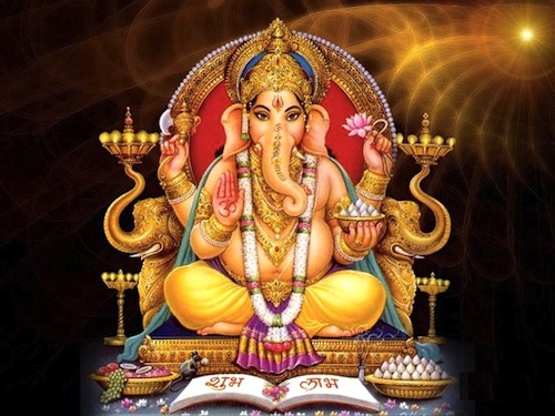 Hindu Lord Ganesha, the god of power to remove obstacles and wisdom. Ganesha is one of 33 gods that were incrementally extended to be 33,000,000 demigods.