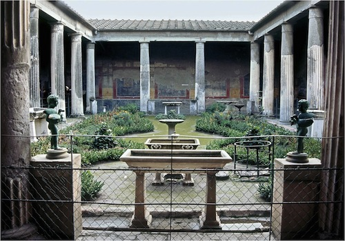 The Peristyle from the House of Vettii in Pompeii (1st century AD)